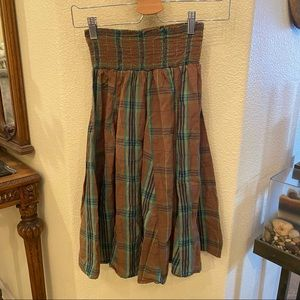OLD NAVY Brown Plaid Skirt Size Small